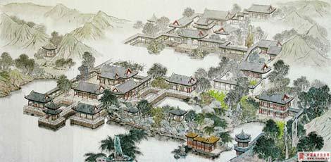 江南园林之苏州拙政园平面布局图